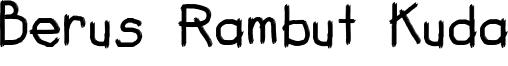 Berus Rambut Kuda Font
