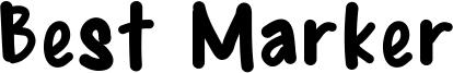Best Marker Font