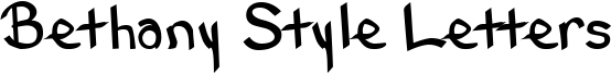Bethany Style Letters Font