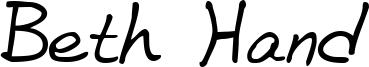 Beth Hand Font