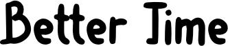 Better Time Font