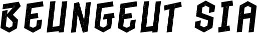 Beungeut Sia Font