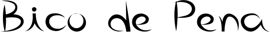 Bico de Pena Font