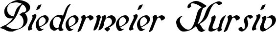 Biedermeier Kursiv Font