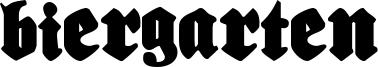 Biergarten Font