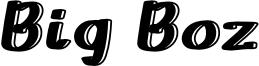 Big Boz Font