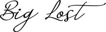 Big Lost Font