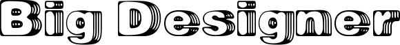 Big Designer Font