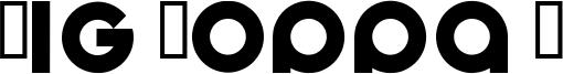 Big Poppa E Font