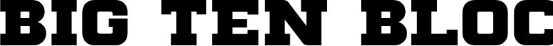 Big Ten Block Font