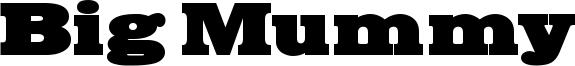 Big Mummy Font