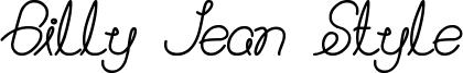 Billy Jean Style Font