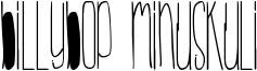 BillyBop MinusKuli Font