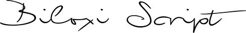 Biloxi Script Font