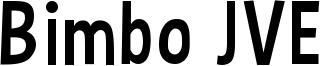 Bimbo JVE Font