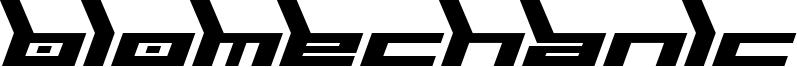 Biomechanic Font