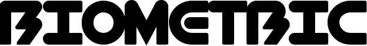 BioMetric Font
