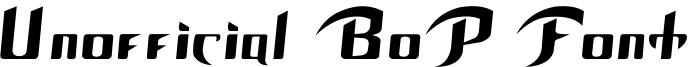 Unofficial BoP Font Font