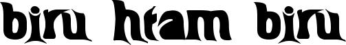 Biru-htam-biru Font