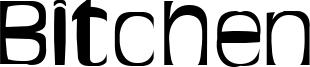 Bitchen Font