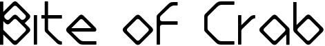 Bite of Crab Font
