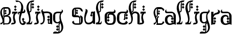 Bitling Sulochi Calligra Font