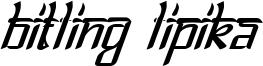Bitlinglipika-Italic.ttf