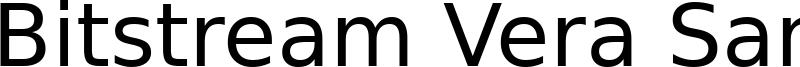 Bitstream Vera Sans Font