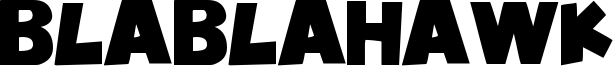BlablaHawk Font