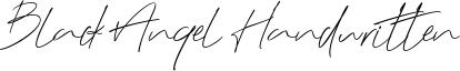 Black Angel Handwritten Font