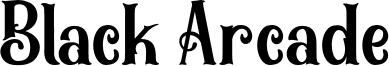 Black Arcade Font