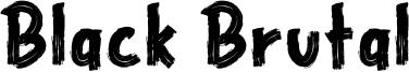 Black Brutal Font