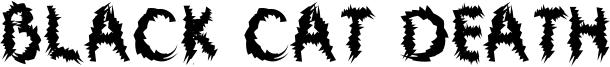Black Cat Death Font