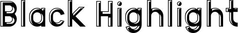 Black Highlight Font