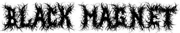 Black Magnet Font