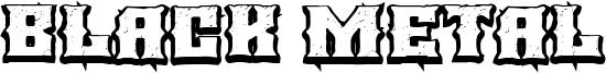 Black Metal Font