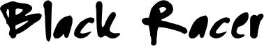 Black Racer Font