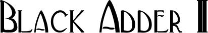 Black Adder II Font