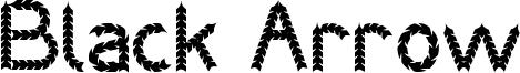 Black Arrow Font