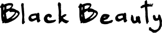 Black Beauty Font