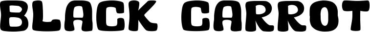 Black Carrot Font