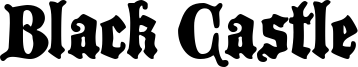 Black Castle Font