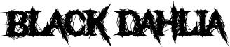 Black Dahlia Font