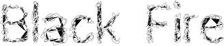 Black Fire Font