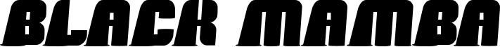 Black Mamba Font