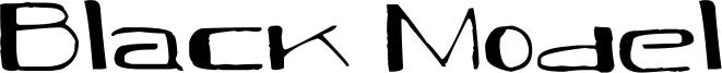 Black Model Font