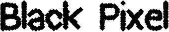 Black Pixel Font