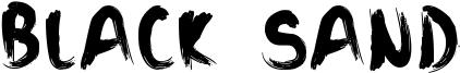 Black Sand Font