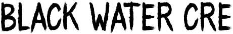 Black Water Cre Font