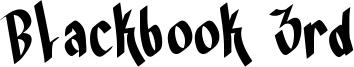 Blackbook 3rd Font